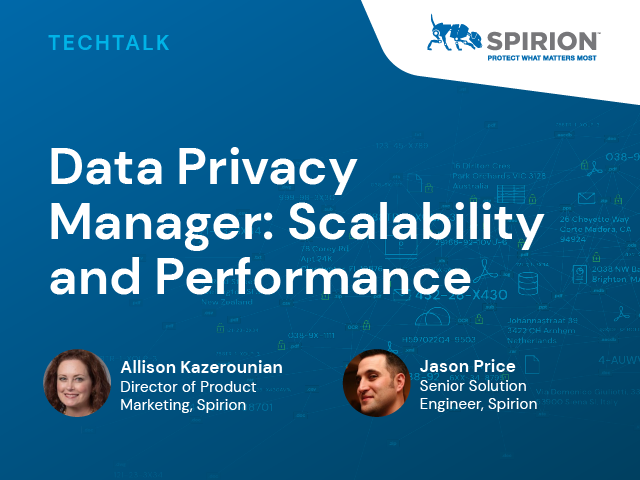 Data Privacy Manager: Scalability and Performance