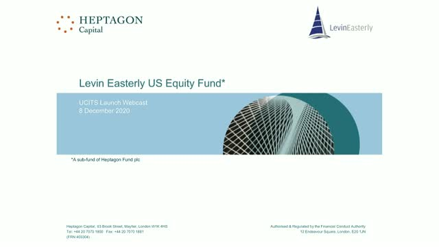 Levin Easterly US Equity UCITS Fund Launch Webcast