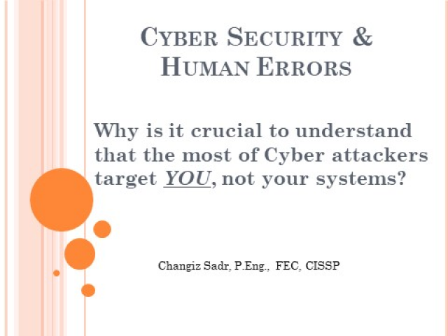 Human Error & Cyber Security