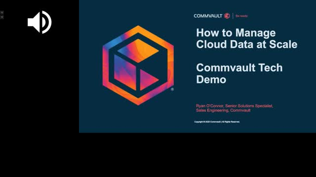 How to Manage Cloud Data at Scale: A Commvault Tech Demo