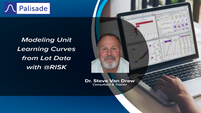 Modeling Unit Learning Curves from Lot Data with @RISK