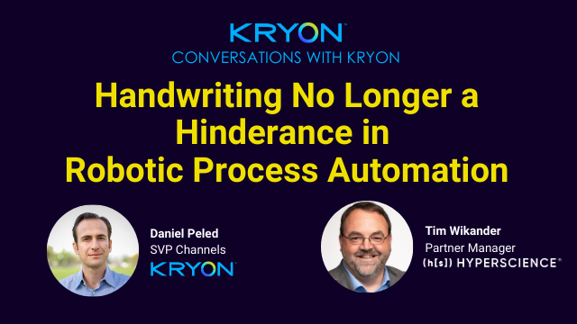 Handwriting No Longer a Hinderance in Robotic Process Automation