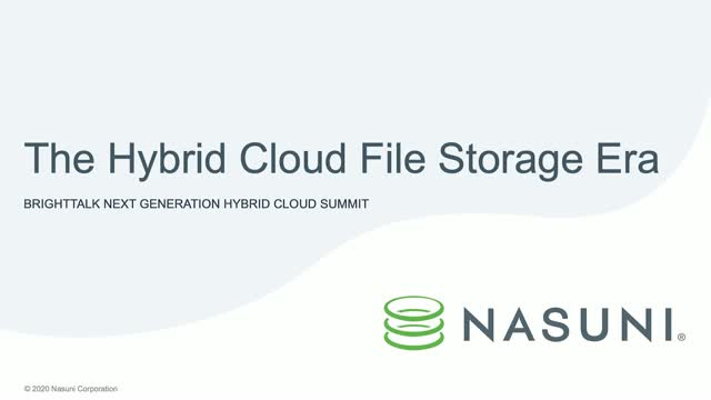 The Cloud Era of File Storage is Here