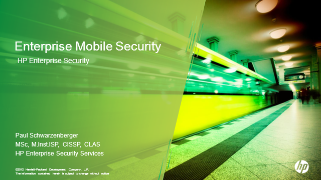 Enterprise Mobile Security