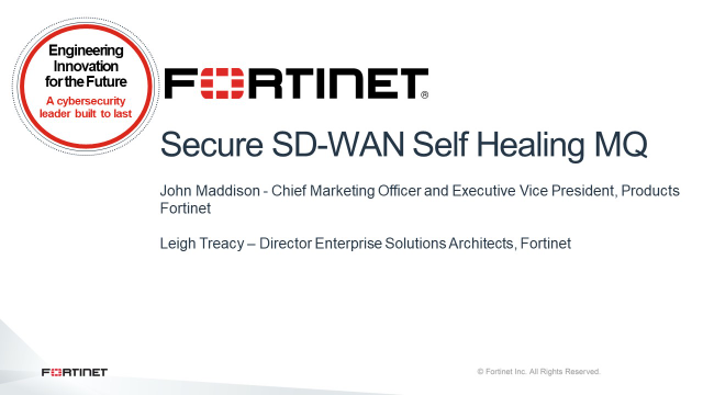 Secure SD-WAN Self Healing MQ
