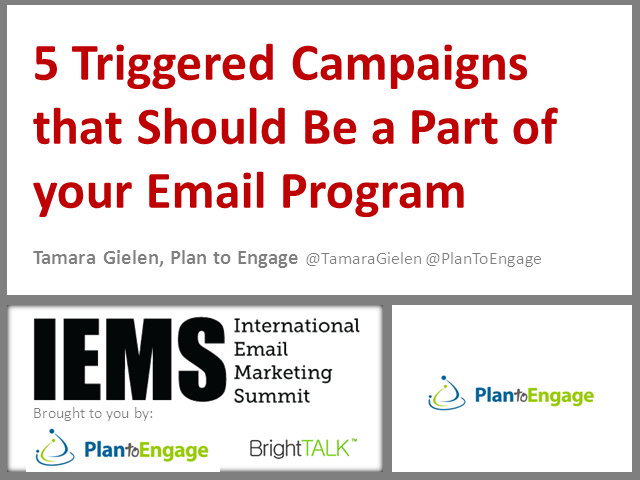 5 Triggered Campaigns that Should be a Part of Your Email Program