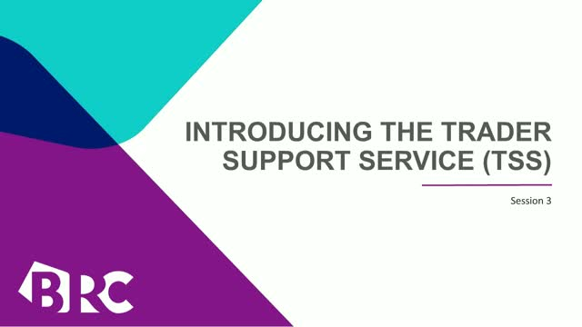 Introducing the Trader Support Service (TSS): Session 3