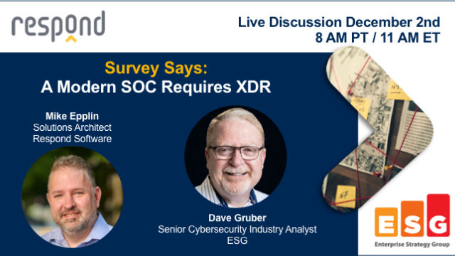 Survey Says: A Modern SOC Requires XDR