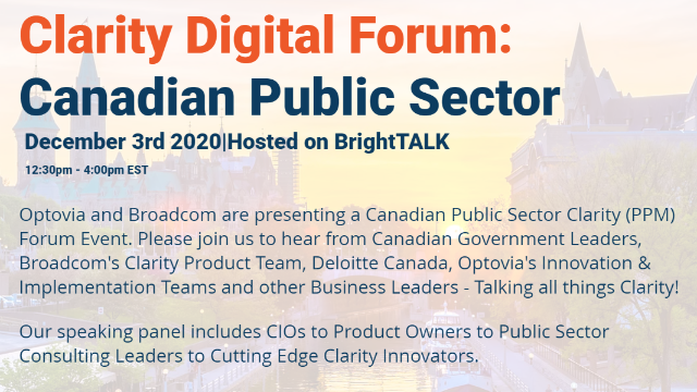 Clarity Virtual Forum: Canadian Public Sector