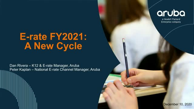 E-Rate FY2021 A New Cycle