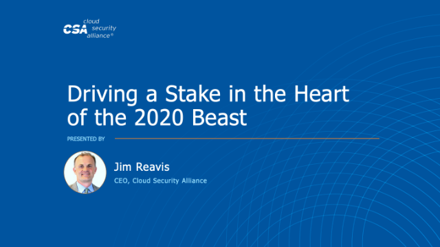 Driving a Stake in the Heart of the 2020 Beast