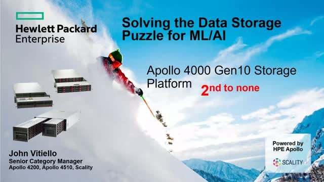 Solving the Data Storage Puzzle for ML/AI with HPE & Scality