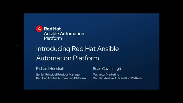 Introducing Red Hat Ansible Automation Platform