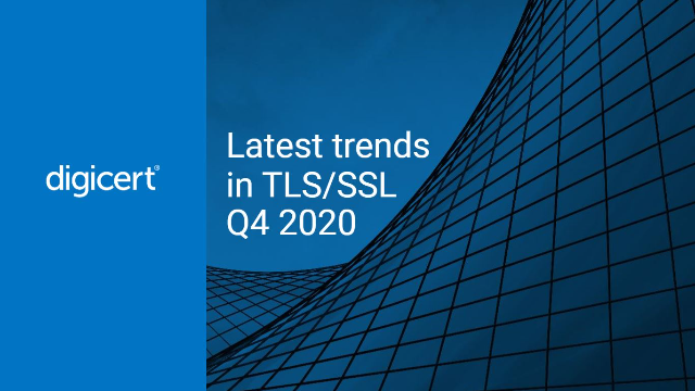 Latest trends in TLS/SSL - Q4 2020