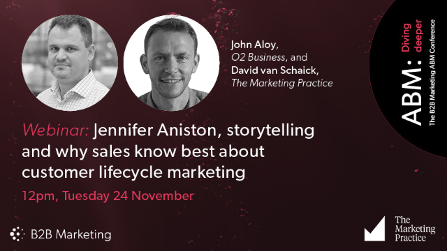 Jennifer Aniston, storytelling and why sales know best about customer lifecycle