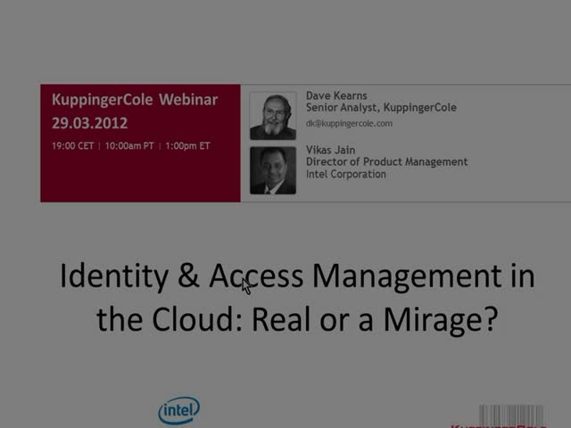 Identity & Access Management in the Cloud: Real or Mirage?