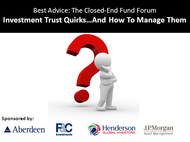 Investment Trust quirks (and how to manage them)
