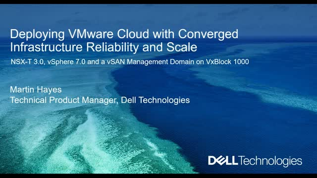 Deploying VMware Cloud With Converged Infrastructure Reliability and Scale