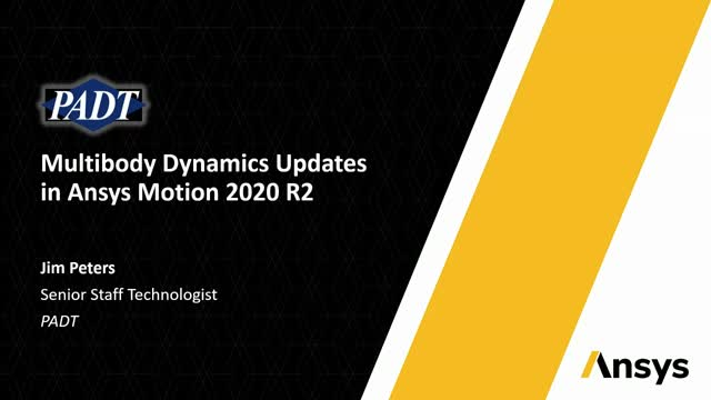 Multibody Dynamics Updates in Ansys Motion 2020 R2