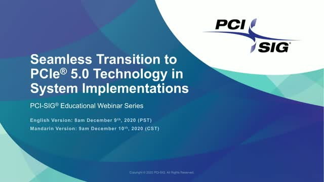 Seamless Transition to PCIe® 5.0 Technology in System Implementations