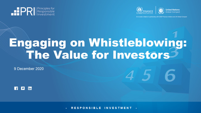 Engaging on Whistleblowing: The Value for Investors