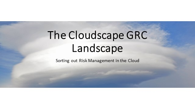 The Cloudscape GRC Landscape