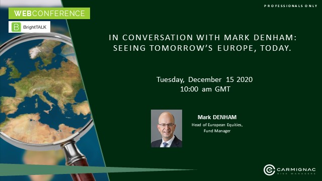 In conversation with Mark Denham: Seeing tomorrow's Europe, today.