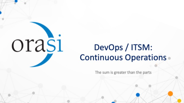 DevOps/ITSM Continuous Operations: The sum is greater than the parts