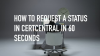 How to request a status in CertCentral® in 60 seconds