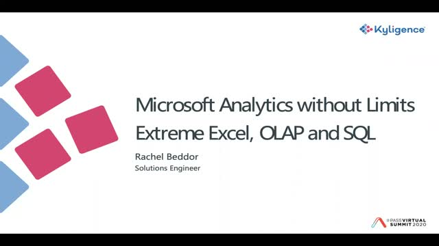 Microsoft Analytics Without Limits: Extreme Excel, OLAP, and SQL