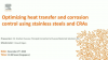 Optimising heat transfer and corrosion control using stainless steels and CRAs.