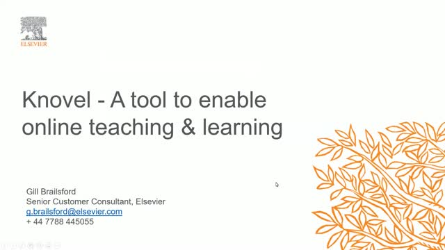 Knovel; A tool to enable online teaching and learning