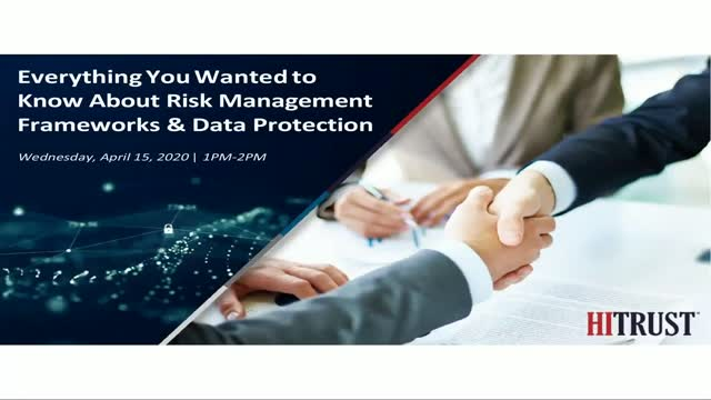 Everything You Wanted to Know About Risk Management Frameworks & Data Protection