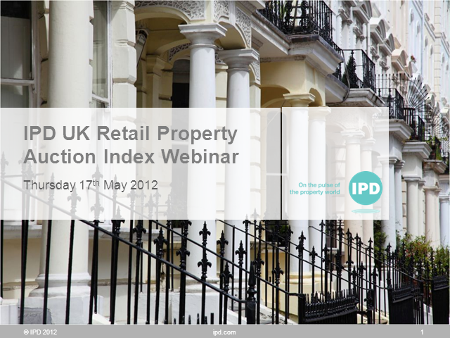 IPD UK Retail Property Auction Index Webinar