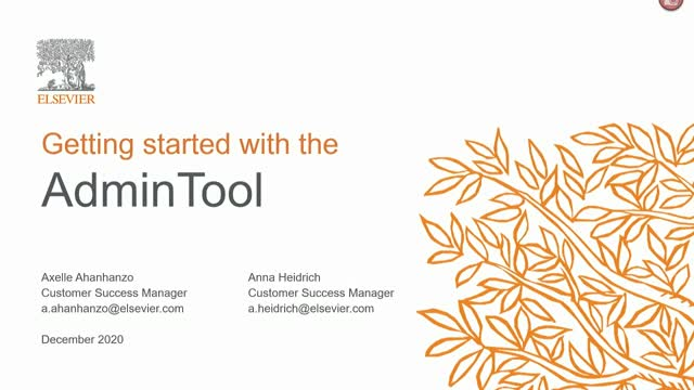 Getting started with the AdminTool