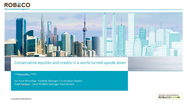 Conservative equities and credits in a world turned upside down