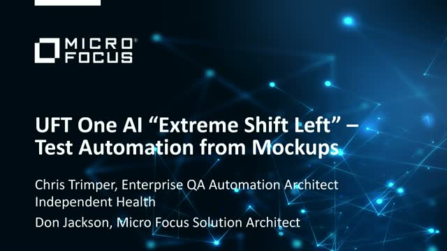 """Achieve """"Extreme Shift Left"""" with AI-Infused Test Automation Using Mockups"""