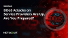 DDoS Attacks on Service Providers are Up.  Are You Prepared?