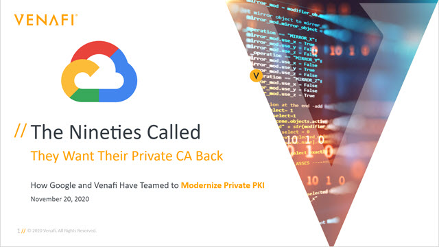The Nineties Called...They Want Their Private CA Back