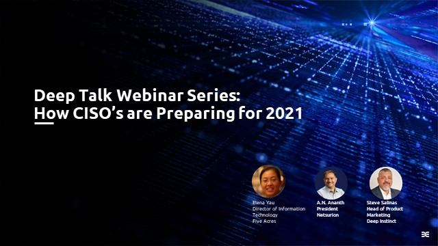 How CISO's are Preparing for 2021