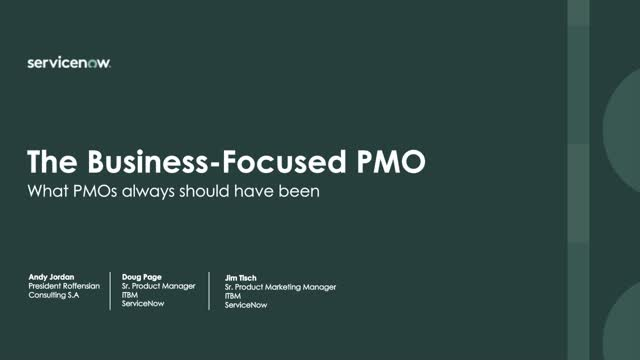 The Business Focused PMO