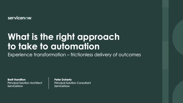 Automation best practices on the Now Platform—and beyond