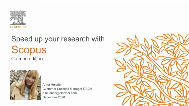Speed up your research with Scopus - Catmas edition