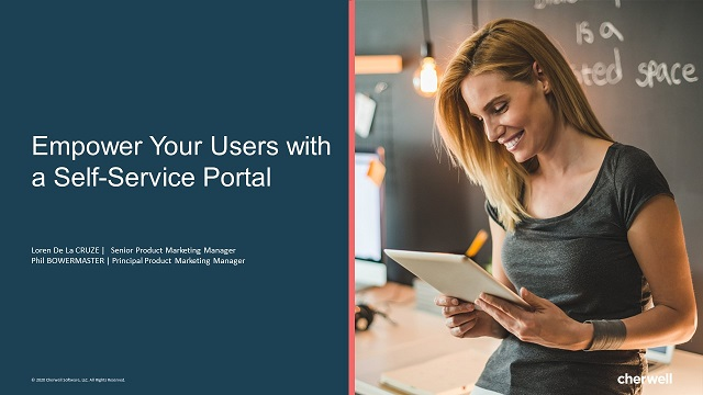 Empower Your Users with a Self-Service Portal