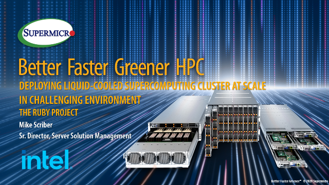Deploying a Liquid Cooled Supercomputing Cluster at Scale - The Ruby Project