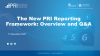 The New PRI Reporting Framework: Overview and Q&A