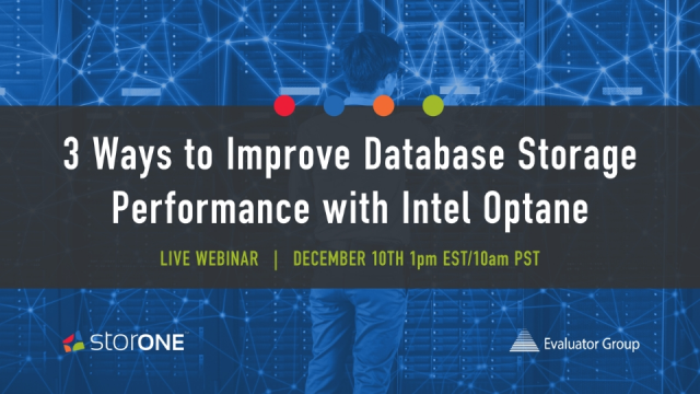 Three Ways to Improve Database Storage Performance with Intel Optane