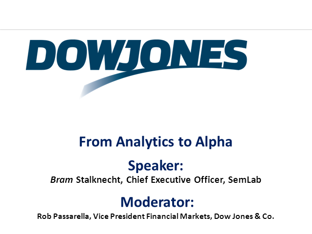 From Analytics to Alpha