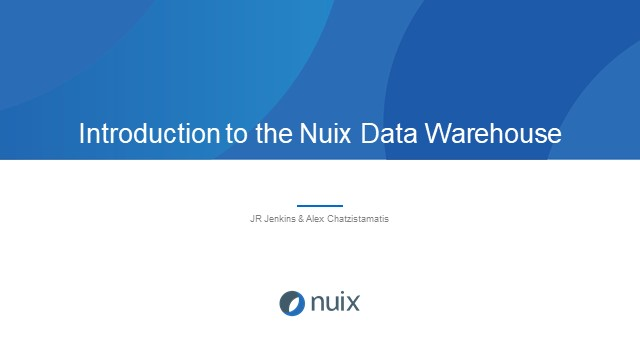 Introduction to the Nuix Data Warehouse