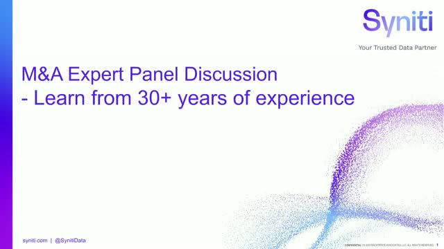 M&A Expert Panel Discussion – Learn from 30+ years of experience